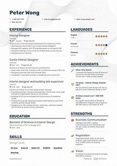 Resume Sample For Designers Job Winning Interior Designer Resume Examples Samples