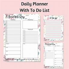 Daily Planner 2020 Printable Daily Planner And Calendar 2020 In Floral Design