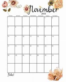 November Calendar Decorations Cute November 2019 Calendar November Calendar November