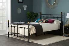 atlas antique brass black 4ft6 135cm metal bed