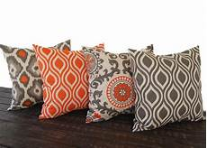 throw pillow covers 20 x 20 set of four orange