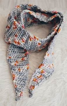 tipped crochet scarf pattern with delicious yarns obsigen