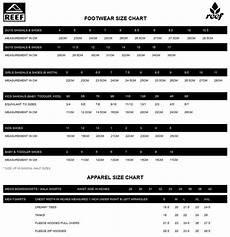 Reef Size Chart Size Chart Reef Sandals Shop Sandals Womens Sandals