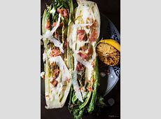 Grilled Romaine Lettuce with Creamy Lemon Dressing