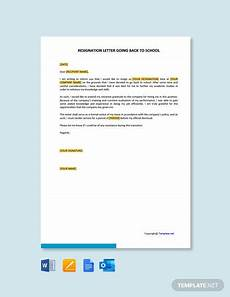 Resignation Letter Going Back To School Free Resignation Retraction Letter Template Word Doc