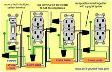 3 Way Switch Light And Outlet Multiple Outlets Controlled By A Single Switch Home