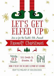 Office Christmas Party Invites 5 X 7 Printable Let S Get Elfed Up Christmas Party
