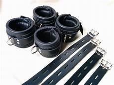 classic black restraints heavy duty padded