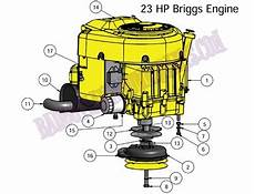 Bad Boy Mower Part 2010 Czt Engine 23hp Briggs