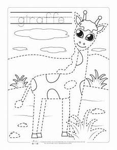 Animal Patterns To Trace Safari And Jungle Animals Tracing Worksheets