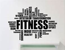 Words Related To Fitness Fitness Motivation Word Cloud Wall Sticker Gym Quote