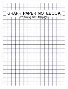 1 Square Graph Paper Graph Paper Notebook 1 2 Inch Squares 100 Pages Blank