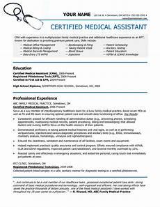 Medical Assistant Job Description Sample Certified Medical Assistant Resume