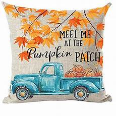 ramirar fall y all autumn watercolor blue truck