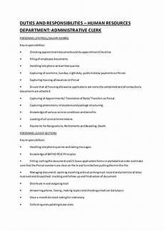 Administrative Clerk Duties Duties And Responsibilities