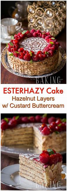 dessert dessert let esterhazy exceptional hungarian cake made of hazelnut