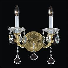 Crystal Sconce Lights Old World Wall Sconces 2 Light Crystal Wall Sconce