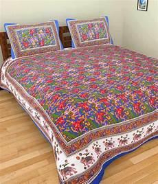 uniqchoice 100 cotton jaipuri king size bed sheet
