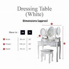 monaco dressing table stool mirror set white painted