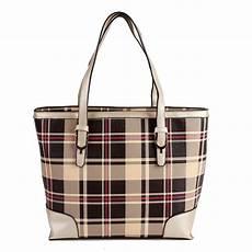 British Designer Bags British Style Fashion Plaid Pu Women Leather Handbags New
