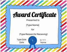 Free Online Certificates Free Custom Certificates For Kids Customize Online
