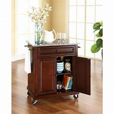 crosley kitchen islands crosley mahogany kitchen cart with granite top kf30023ema