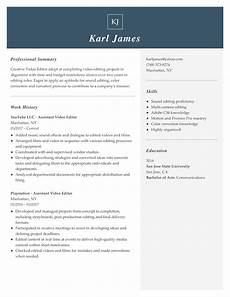 Online Resume Editor View 30 Samples Of Resumes By Industry Amp Experience Level