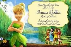 Tinkerbell 1st Birthday Invitations Free Tinkerbell Birthday Invitation Templates Tinkerbell