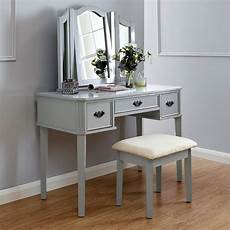 dressing table grey 3 drawer with stool buy