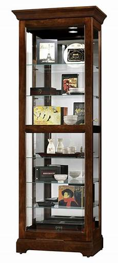 this display cabinet includes six glass shelves with