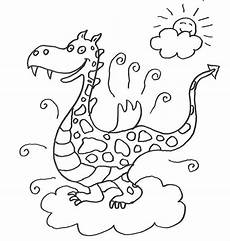 kostenlose malvorlage m 228 rchen drache auf einer wolke zum