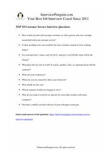 Interview Question And Answers For Customer Service Representative Top 10 Customer Service Interview Questions And Answers