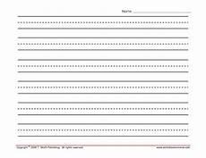 Printable Lined Paper For Kindergarten Lined Writing Paper Landscape Printables Amp Template For