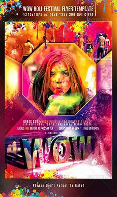 Flyer Color Wow Holi Festival Flyer Template By Mexelina Graphicriver