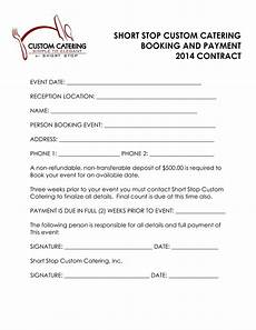 Catering Agreement Template Wedding Catering Contract Templates At