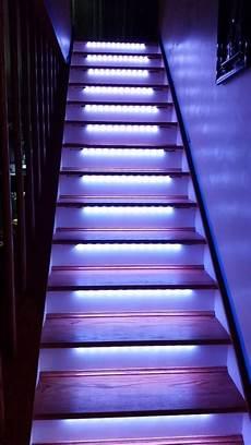 Led Lights For Stairs Led Neopixel Motion Sensor Stair Lighting 6 Steps