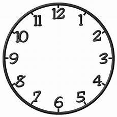Malvorlage Uhr Ohne Zeiger Clock Embroidery Design Annthegran