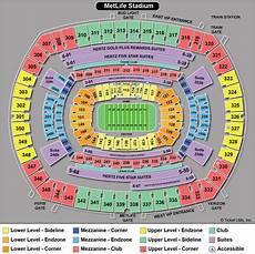 Metlife Virtual Seating Chart New York Giants Metlife Stadium Seating Chart