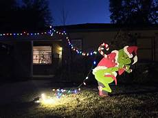 The Grinch Pulling Down Lights The Grinch Is Stealing My Christmas Lights Grinch