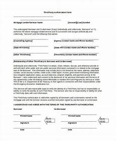 Blank 3rd Party Authorization Form Free 27 Sample Authorization Forms Doc