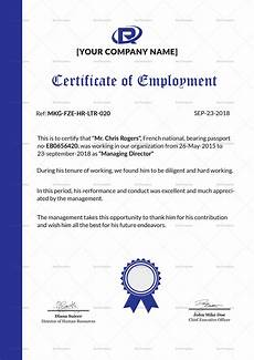 Company Certification Sample Excellent Employment Certificate Design Template In Psd Word