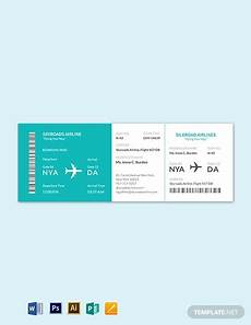 Airline Ticket Template Free 21 Best Airline Ticket Templates In Ai Psd Word