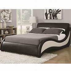 niguel modern king upholstered platform bed from coaster