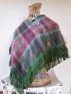 lakeland shoulder cape vintage plaid capelet mohair wool
