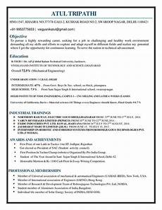 Resume For Engineering Freshers What Is The Best Resume For Mechanical Engineer Fresher