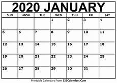 January 2020 Calendar Download January 2020 Printable Calendar 123calendars Com