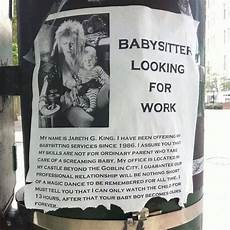 Looking For A Sitter Labyrinth Humor Babysitter Looking For Work Jm