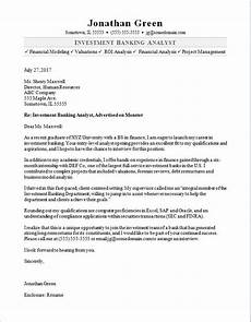 Cover Letter Example Investment Banking Investment Banker Cover Letter Sample Monster Com