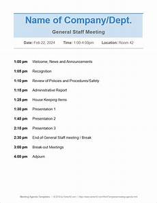 Meeting Agenda Template Doc 10 Free Meeting Agenda Templates Word And Google Docs