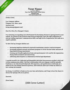 Human Resources Cover Letter Human Resources Cover Letter Sample Resume Genius